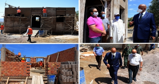 عامل إقليم الدريوش يتفقد تقدم الأشغال بأوراش بناء وتجهيز وحدات التعليم الأولي