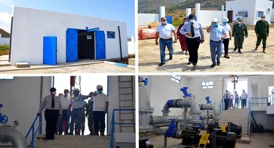 عامل الدريوش يقف على تقدم أشغال مشروع تزويد 11 جماعة بالإقليم بالماء الصالح للشرب