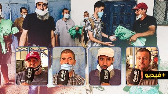 وكالة المكتب الوطني للماء بالناظور توزع أكياس بلاستيكية مخصصة للنفايات ومخلفات أضاحي العيد