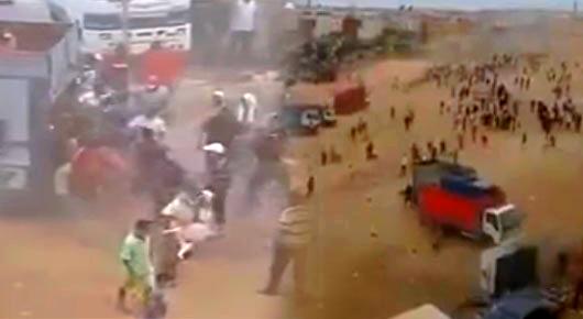 اعتقال 20 مشتبها في أعمال العنف والسرقة والرشق بالحجارة التي شهدها سوق لبيع الأغنام