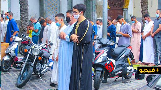 شاهدوا.. مسلمو مليلية يؤدون صلاة عيد الأضحى في ظروف استثنائية