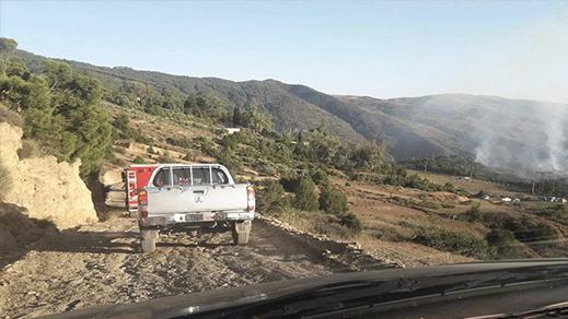 توقيف المتهم بإشعال حريق قرب غابة جبل القرن بتمسمان
