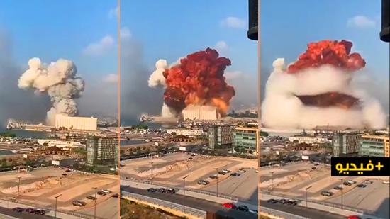 شاهدوا.. إنفجار كبير يهز بيروت ويسقط مئات الجرحى والقتلى