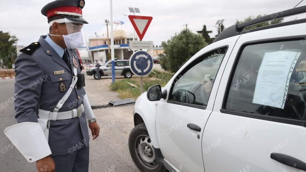 درك أركمان يشن حملة اعتقالات بسبب عدم ارتداء الكمامة