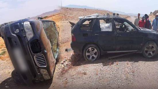جريح في حادثة انقلاب سيارة بمنعرج نواحي الدريوش