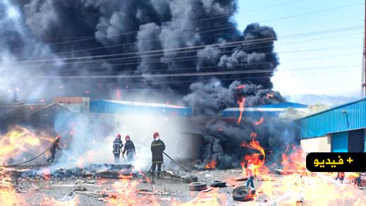 تفاصيل حريق الحي الصناعي بسلوان.. إطارات مطاطية كانت ستجهز على مستودع للمواد الغذائية