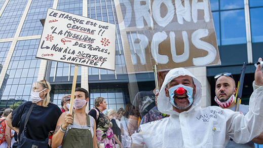 البلجيكيون يتظاهرون ضد قيود كورونا وإجبارية وضع الكمامات