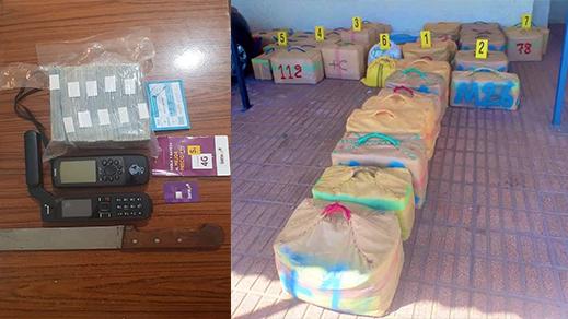 الشرطة القضائية بالناظور تحجز أزيد من طن من المخدرات ببني انصار