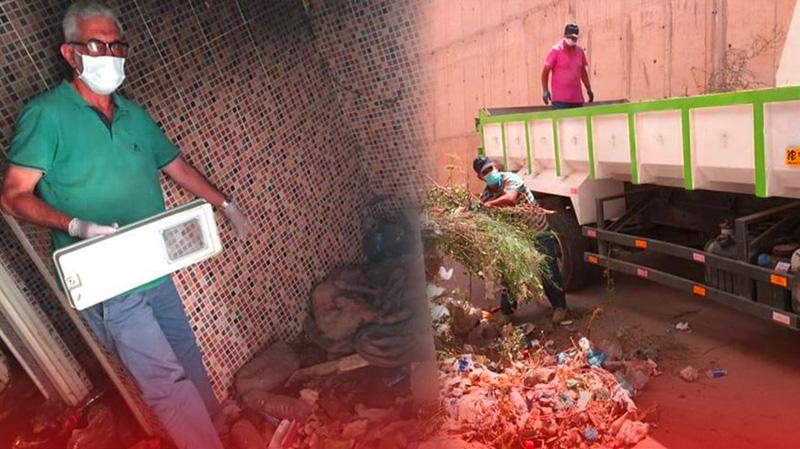المجلس الجماعي لبني انصار يعقم محيط سوق فرخانة ومنزل السيدة المتوفاة بكورونا