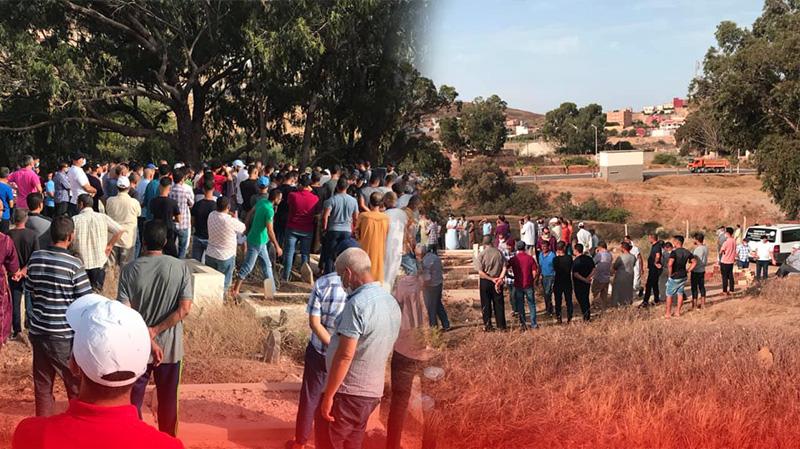 تشييع جنازة عاملي صباغة بأزغنغان توفيا في حادثة شغل