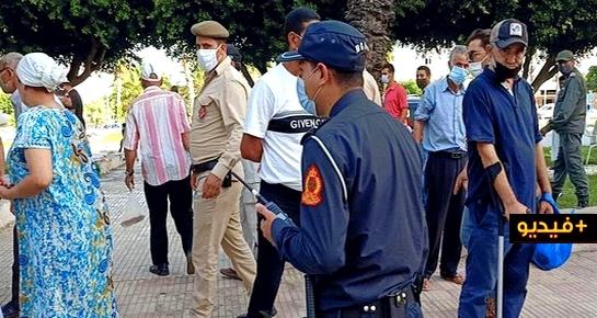 سلطات الناظور تفرق سوقا عشوائيا للفراشة وتشن حملة على مخالفي ارتداء الكمامة