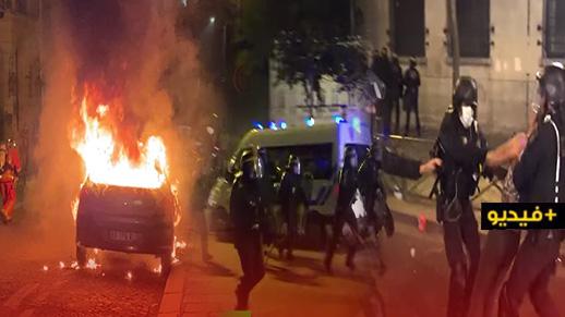 شاهدوا.. أعمال شغب عنيفة عقب خسارة باريس سان جيرمان أمام بايرن