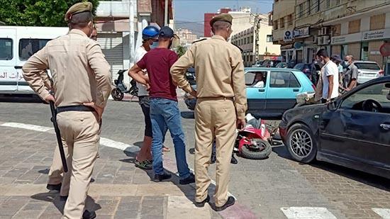 شجار بين سائقي دراجة وسيارة بسبب حادثة سير وسط الناظور
