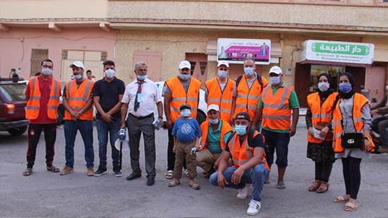 جمعية منتدى الشرق للسلامة الطرقية بزايو تنظم حملة تحسيسية  حول ارتداء الكمامة