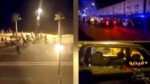 """بالفيديو.. رشق رجال الشرطة بالحجارة و""""القنبول"""" وتسجيل عشرات الإصابات خلال تفريق احتفالات عاشوراء"""