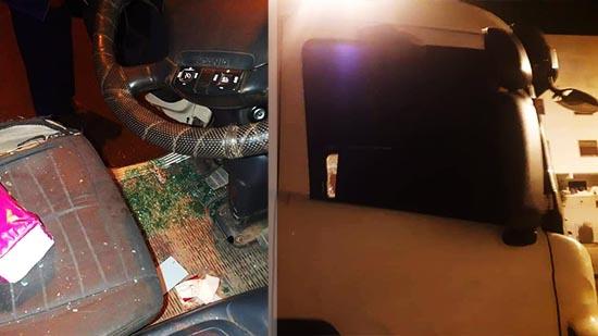 مجهولون يلحقون خسائر مادية بشاحنة مواطن ناظوري