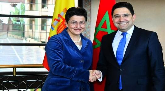 وزير الخارجية يتباحث مع نظيرته الإسبانية عددا من الملفات ضمنها فتح الحدود بين مليلية والناظور