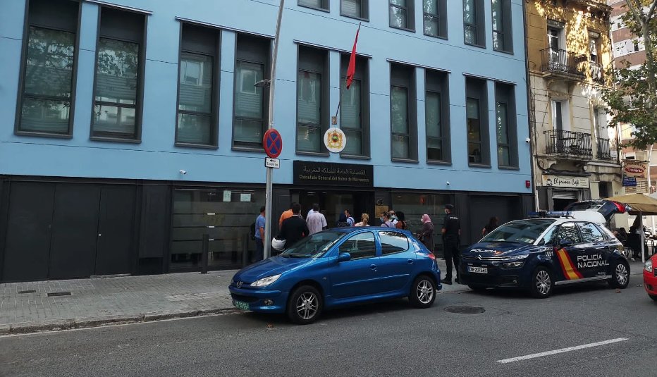 القنصلية المغربية في برشلونة تغلق أبوابها مؤقتا بعد إصابة أحد موظفيها بكورونا
