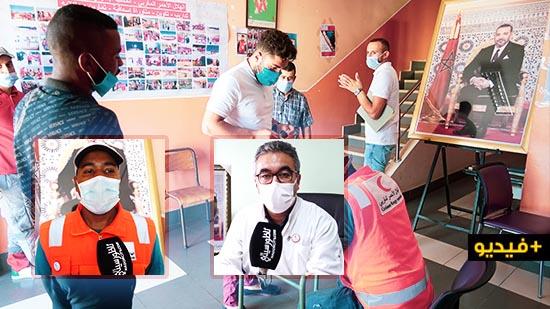 """في عز جائحة """"كورونا"""".. الهلال الأحمر المغربي بالناظور ينظم حملة للتبرع بالدم"""