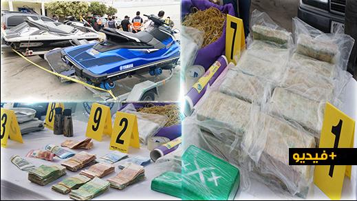 شاهدوا.. أمن الناظور يعرض محجوزات شبكة دولية لتهريب الكوكايين