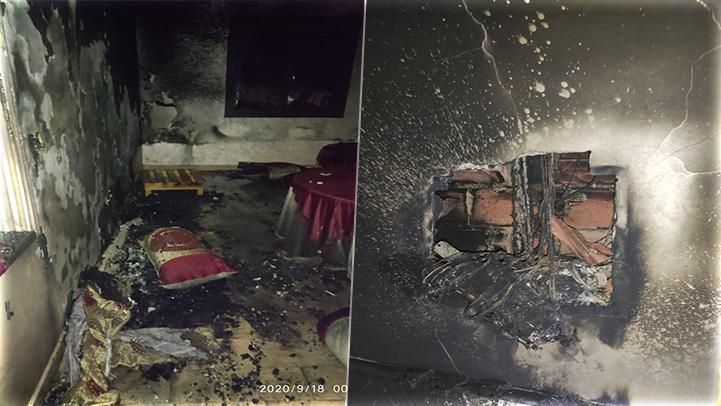 فرخانة.. النيران تلتهم منزل مواطن عالق بمليلية بسبب قوة التيار الكهربائي