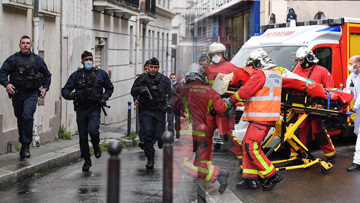 """شاهدوا.. إصابات في إطلاق نار بباريس قرب مكتب """"شارلي إيبدو"""" واعتقال مشتبه فيهما"""