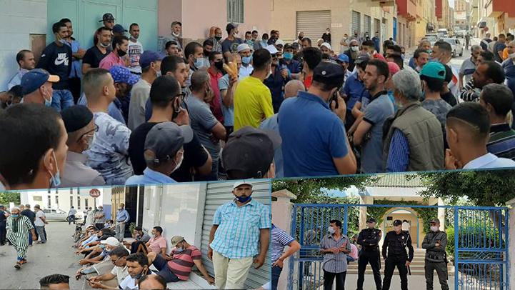 الناظور.. احتجاجات عارمة لتجار سوق أزغنغان بسبب الغموض والتلاعب في الترحيل إلى الموقع الجديد