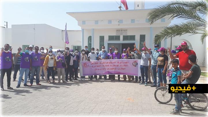 الدريوش.. النقابة الوطنية للصحة تخوض وقفة احتجاجية دفاعا عن الحريات النقابية