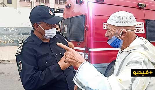 شاهدوا.. مسنّ من مليلية عالق في الناظور ينهار باكيا بعد رفض السماح له بالعودة