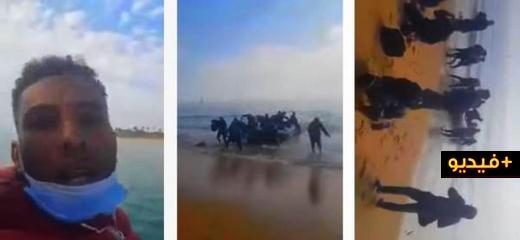 شاهدوا فيديو جديد لمغاربة يوثقون لحظات وصولهم عبر قارب مطاطي إلى إسبانيا وقيامهم بسجدة جماعية