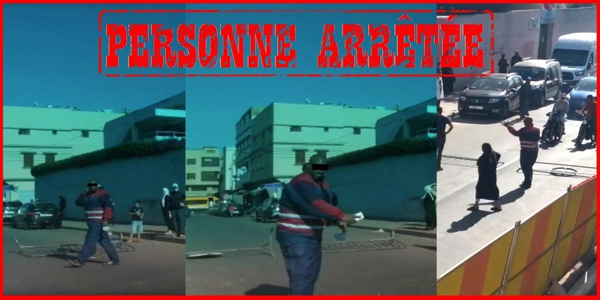 الأمن يوقف شخصا ظهر في فيديو وهو يعرقل السير أمام مؤسسة تعليمية بوضع حواجز حديدية