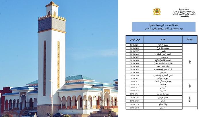 هذه هي المساجد التي سيتم افتتاحها وإقامة صلاة الجمعة فيها بإقليم الناظور
