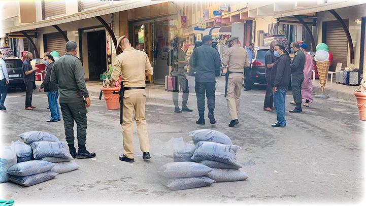 """سلطات الأمن بالعروي تشن حملة ضد """"الفراشة """" لمكافحة انتشار كورونا"""