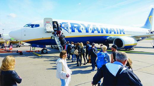 """عودة شركة """"ريان إير"""" إلى ربط سبع دول بمطارات المغرب"""