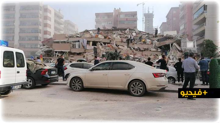 زلزال بقوة 6,6 يضرب أزمير في تركيا ويدمر مجموعة من المباني
