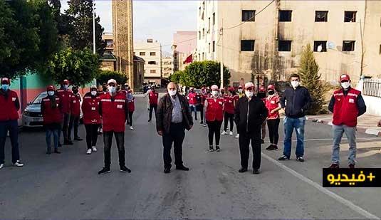 سلطات العروي تقود حملة تحسيس واسعة بعد التزايد المقلق لاصابات كورونا بالمدينة