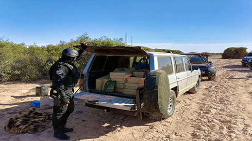 جمارك الحسيمة تحجز كمية هامة من مخدر الشيرا على متن سيارة نفعية