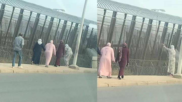 في مشهد مؤلم.. عائلات ناظورية تصل الرحم مع أقاربها بمليلية من وراء السياج