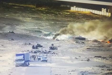 """بعد تدخل القوات المسلحة المغربية.. مرتزقة """"البوليساريو"""" يفرّون من الكركرات"""
