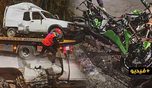 اصابة شخصين في حادثة سير خطيرة بين الناظور وسلوان
