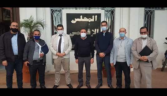 سعيد الرحموني يستقبل القيادة المحلية للاتحاد المغربي للشغل لتدارس مشاكل الطبقة العاملة بالناظور