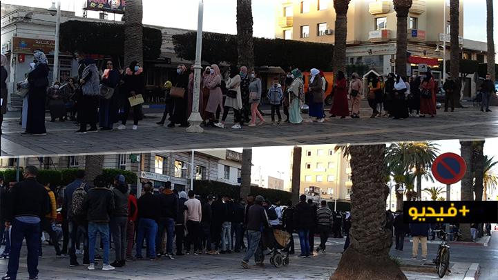 عودة الإكتظاظ عند بوابة القنصلية الإسبانية بالناظور والسلطات تتدخل لتجنب الكارثة