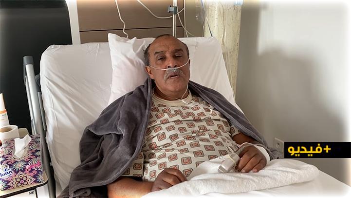 الممثل الكوميدي سعيد الناصري يصارع الموت بسبب فيروس كورونا رفقة عائلته الصغيرة