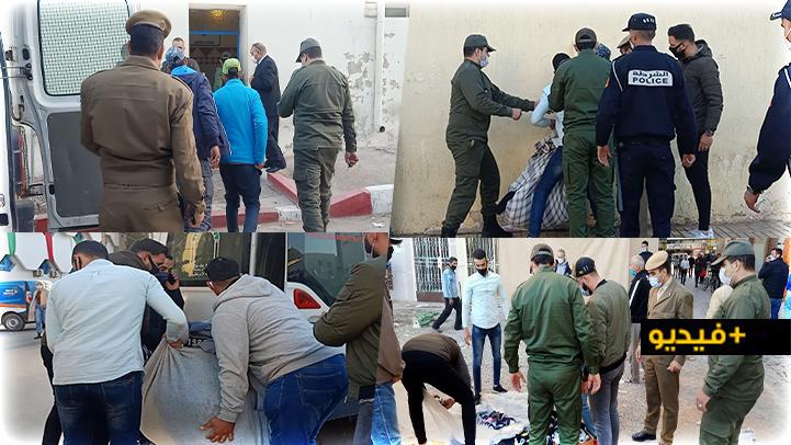 """سلطات الناظور تشن حملة غير مسبوقة على """"الفراشة"""" بساحة الحاج مصطفى وسوق المتلاشيات"""