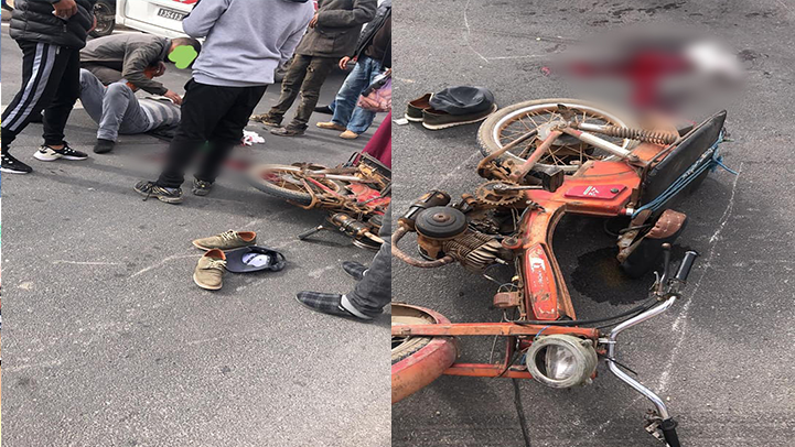 طاكسي ترسل سائق دراجة نارية إلى مستعجلات مستشفى العروي