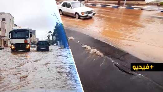 بعد أقل من شهر منذ انتهاء الأشغال.. الأمطار تفضح الغش في تزفيت الطريق المؤدية إلى ازغنغان