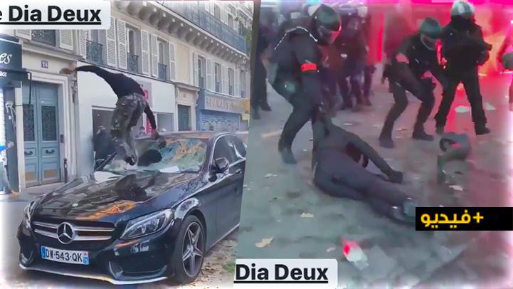 شاهدوا.. مظاهرات عارمة واعتقالات جراء تدخل أمني عنيف في فرنسا بسبب قانون جديد