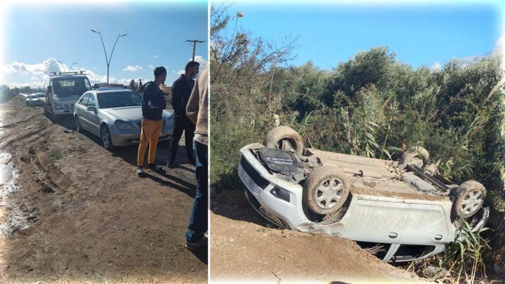 خطير.. إنقلاب سيارة بين سلوان والناظور وإصابة ثلاثة سيدات