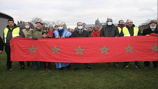 مغاربة هولندا يخرجون للإحتجاج ضد استفزازات البوليساريو
