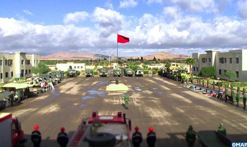 القوات المسلحة بوجدة تتعبأ لتقديم الإغاثة والمساعدة للسكان المتضررين من سوء أحوال الطقس وموجات البرد